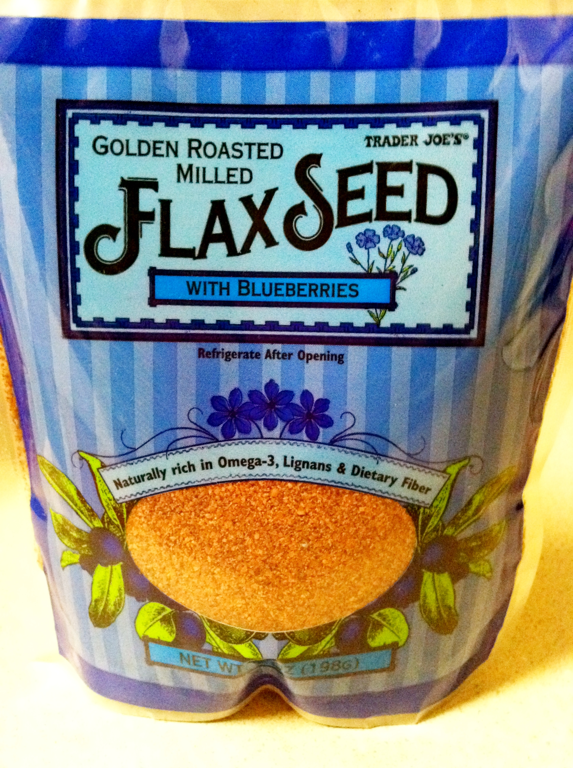 Trader Joes Golden Roasted Milled Flax Seed with Blueberries